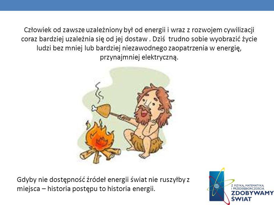 W prehistorycznych czasach, zapotrzebowanie człowieka na energię było skromne.