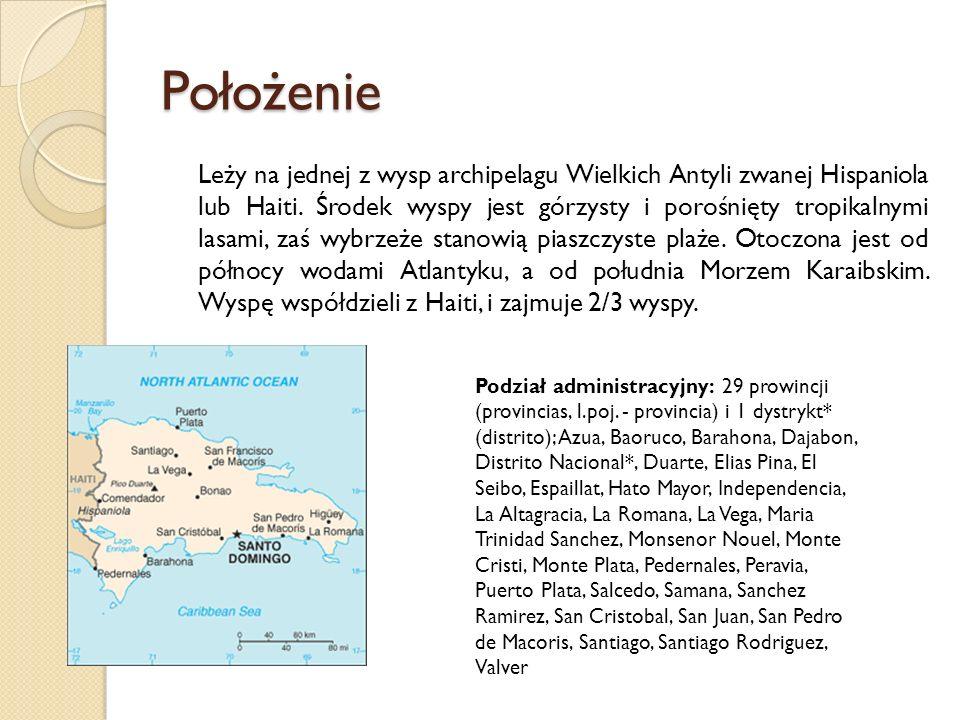 Położenie Leży na jednej z wysp archipelagu Wielkich Antyli zwanej Hispaniola lub Haiti. Środek wyspy jest górzysty i porośnięty tropikalnymi lasami,