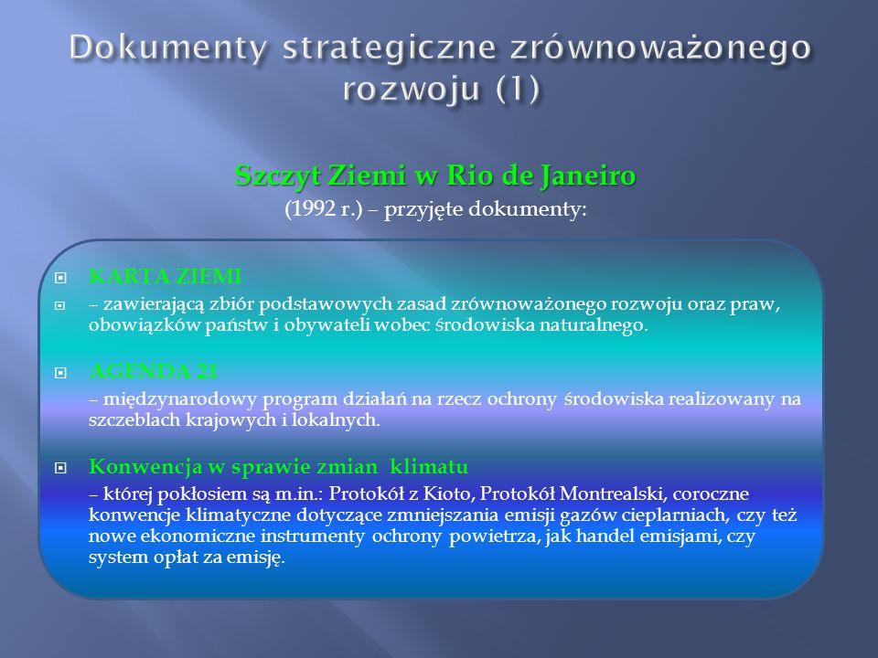 Deklaracja Sztokholmska wyodrębniła trzy podstawowe cechy tego rozwoju: RÓWNOWAŻENIE – podczas planowania i realizacji rozwoju utrzymuje właściwe prop