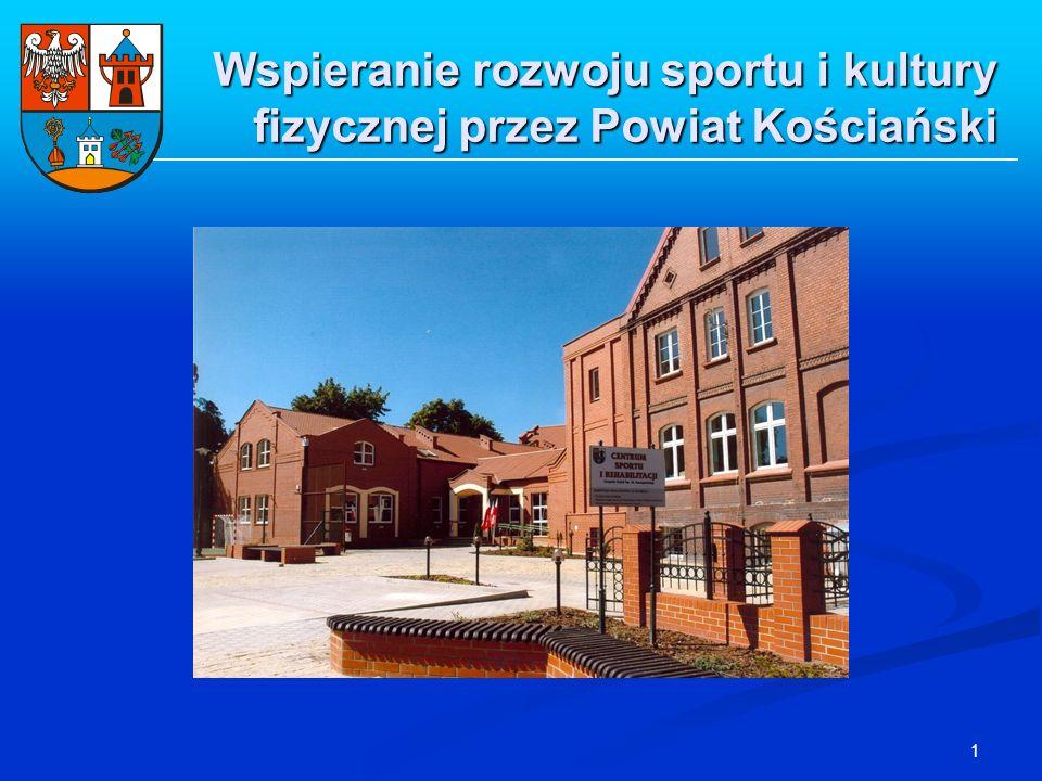 1 Wspieranie rozwoju sportu i kultury fizycznej przez Powiat Kościański