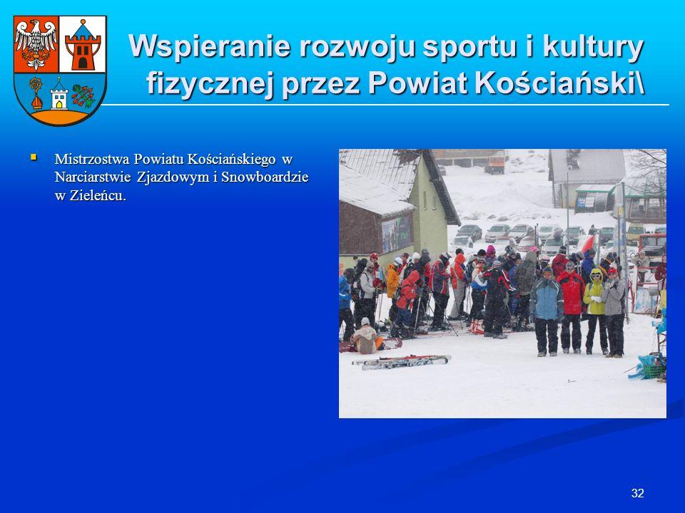 32 Wspieranie rozwoju sportu i kultury fizycznej przez Powiat Kościański\ Mistrzostwa Powiatu Kościańskiego w Narciarstwie Zjazdowym i Snowboardzie w