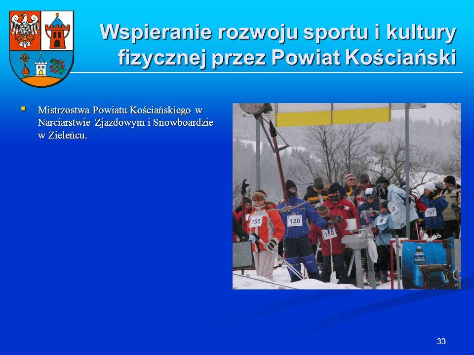 33 Wspieranie rozwoju sportu i kultury fizycznej przez Powiat Kościański Mistrzostwa Powiatu Kościańskiego w Narciarstwie Zjazdowym i Snowboardzie w Z