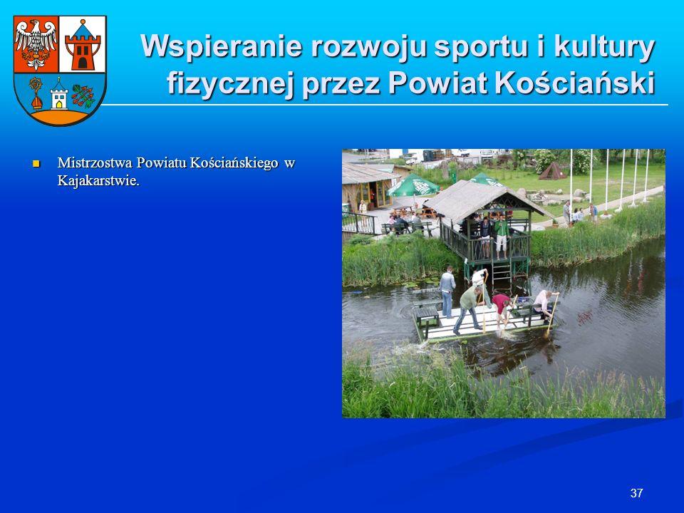 37 Wspieranie rozwoju sportu i kultury fizycznej przez Powiat Kościański Mistrzostwa Powiatu Kościańskiego w Kajakarstwie. Mistrzostwa Powiatu Kościań
