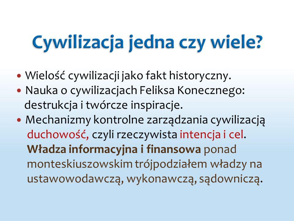 Wielość cywilizacji jako fakt historyczny. Nauka o cywilizacjach Feliksa Konecznego: destrukcja i twórcze inspiracje. Mechanizmy kontrolne zarządzania