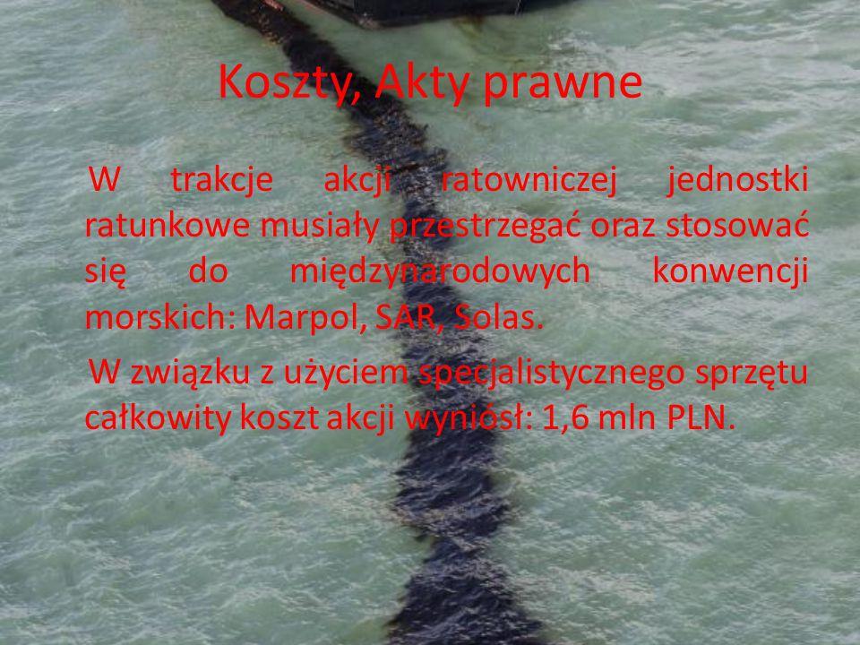 Koszty, Akty prawne W trakcje akcji ratowniczej jednostki ratunkowe musiały przestrzegać oraz stosować się do międzynarodowych konwencji morskich: Mar