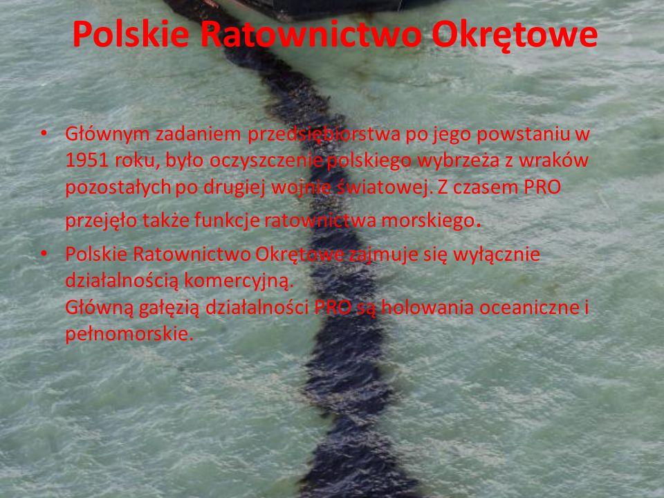 Polskie Ratownictwo Okrętowe Głównym zadaniem przedsiębiorstwa po jego powstaniu w 1951 roku, było oczyszczenie polskiego wybrzeża z wraków pozostałyc