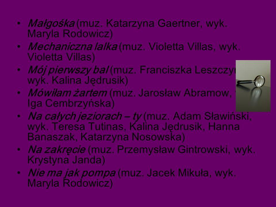 Małgośka (muz.Katarzyna Gaertner, wyk. Maryla Rodowicz) Mechaniczna lalka (muz.