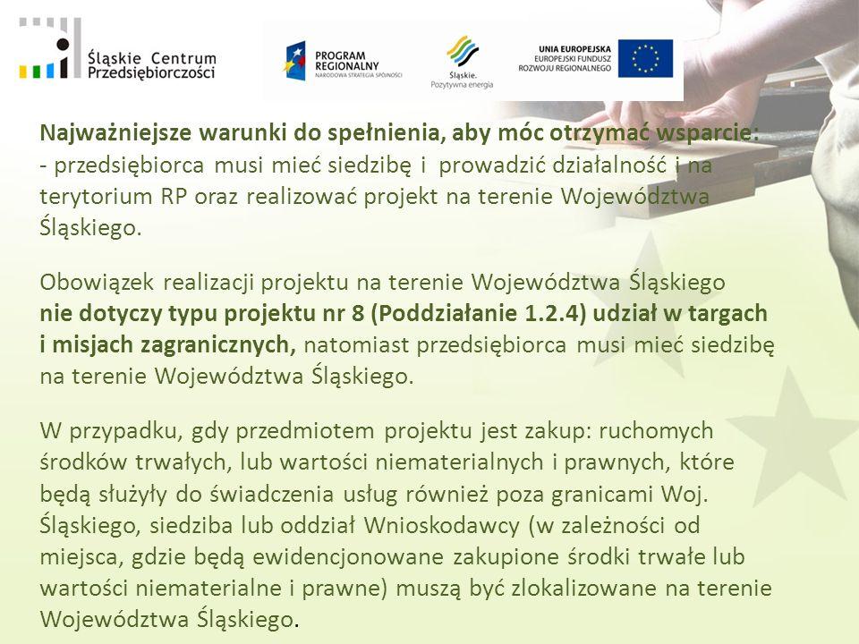 Priorytet I Badania i rozwój technologiczny (B+R), innowacje i przedsiębiorczość Poddziałania 1.2.3 Innowacje w mikroprzedsiębiorstwach i MŚP 1.2.4 Mikro, małe i średnie przedsiębiorstwa Priorytet III Turystyka Poddziałania 3.1.1 Infrastruktura zaplecza turystycznego/przedsiębiorstwa 3.2.1 Infrastruktura okołoturystyczna/przedsiębiorstwa