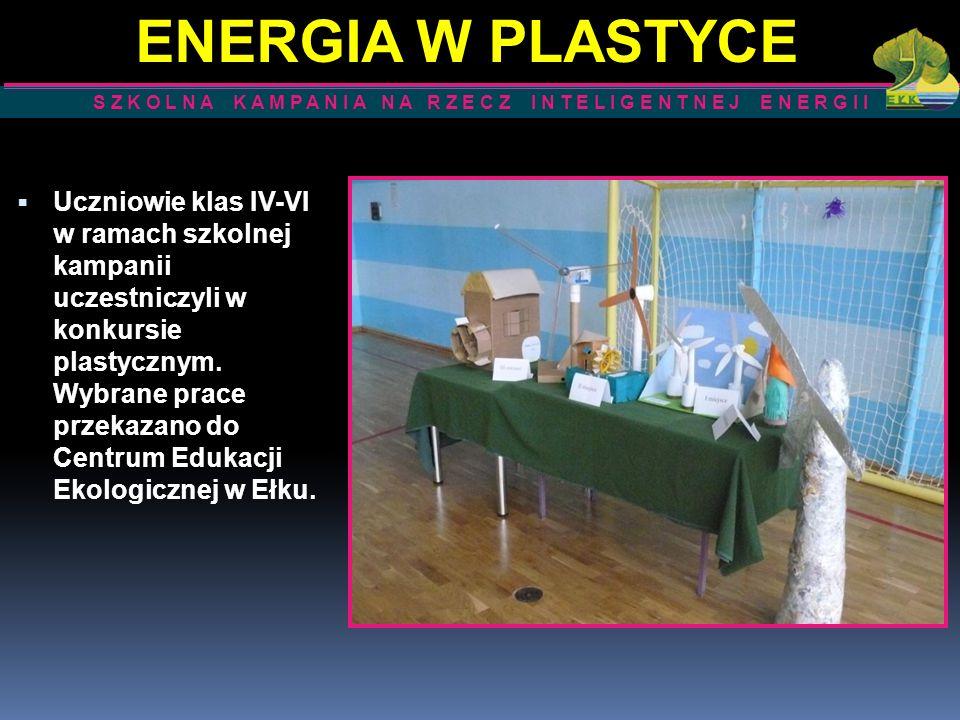 Uczniowie klas IV-VI w ramach szkolnej kampanii uczestniczyli w konkursie plastycznym. Wybrane prace przekazano do Centrum Edukacji Ekologicznej w Ełk