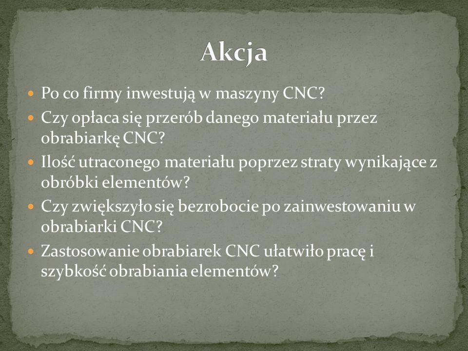 Po co firmy inwestują w maszyny CNC? Czy opłaca się przerób danego materiału przez obrabiarkę CNC? Ilość utraconego materiału poprzez straty wynikając