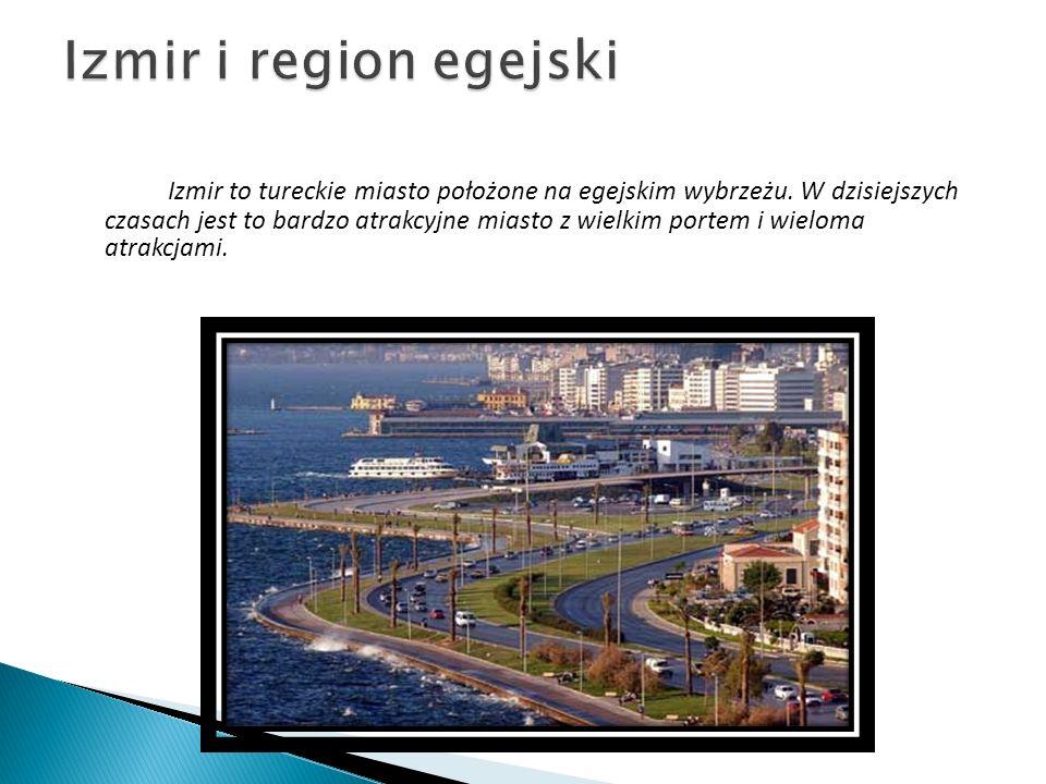 Izmir to tureckie miasto położone na egejskim wybrzeżu. W dzisiejszych czasach jest to bardzo atrakcyjne miasto z wielkim portem i wieloma atrakcjami.