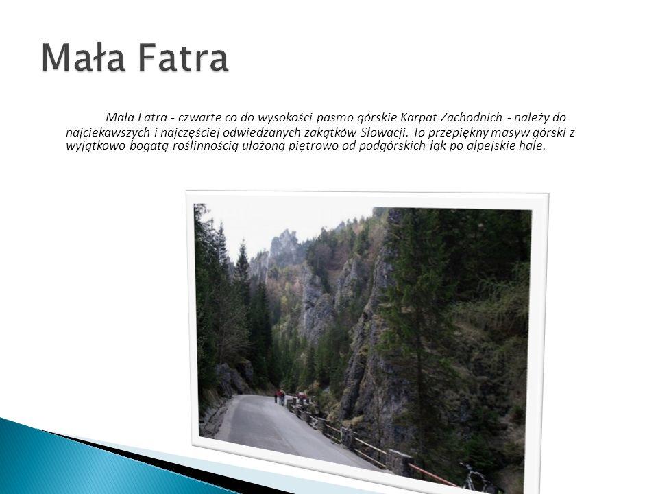 Mała Fatra - czwarte co do wysokości pasmo górskie Karpat Zachodnich - należy do najciekawszych i najczęściej odwiedzanych zakątków Słowacji. To przep