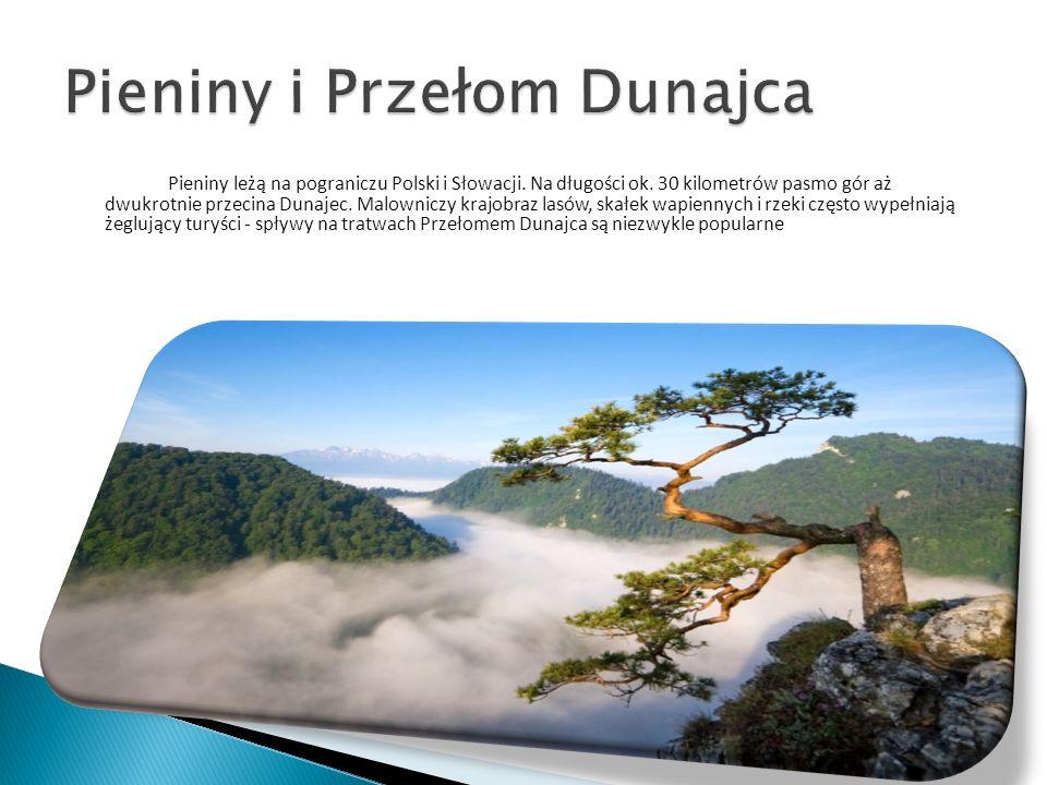 Pieniny leżą na pograniczu Polski i Słowacji. Na długości ok. 30 kilometrów pasmo gór aż dwukrotnie przecina Dunajec. Malowniczy krajobraz lasów, skał