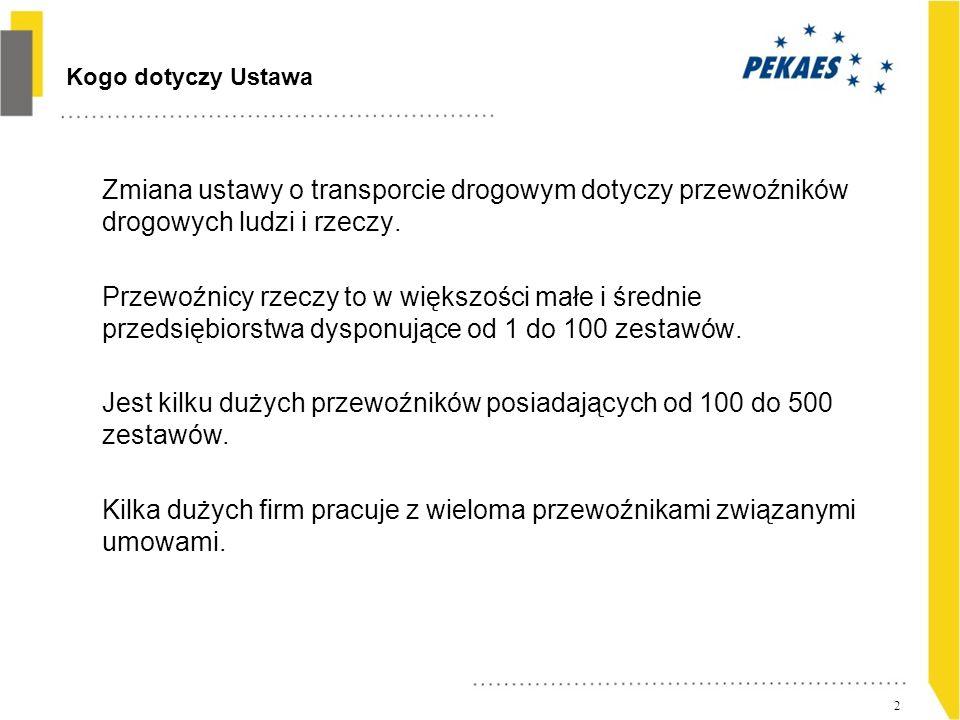 13 Dziękuję Marek Pomian-Biesiekierski Dyrektor Operacyjny PEKAES SA
