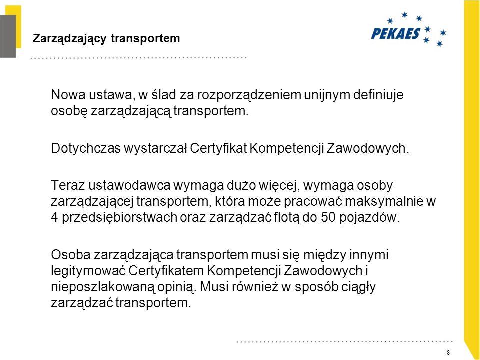 Zarządzający transportem c.d.