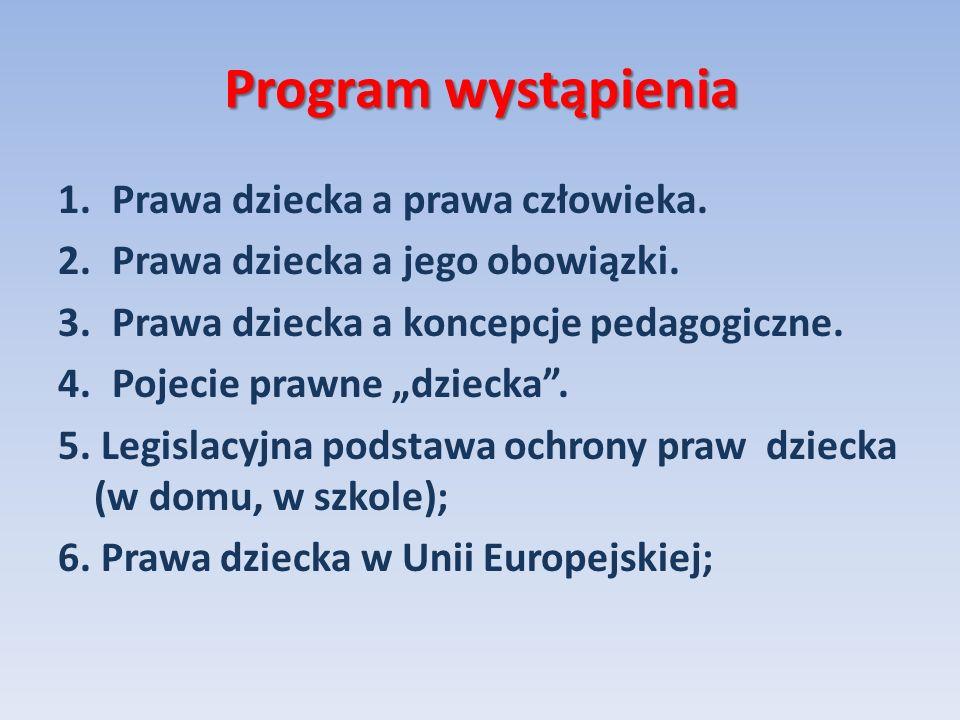 Program wystąpienia 6.