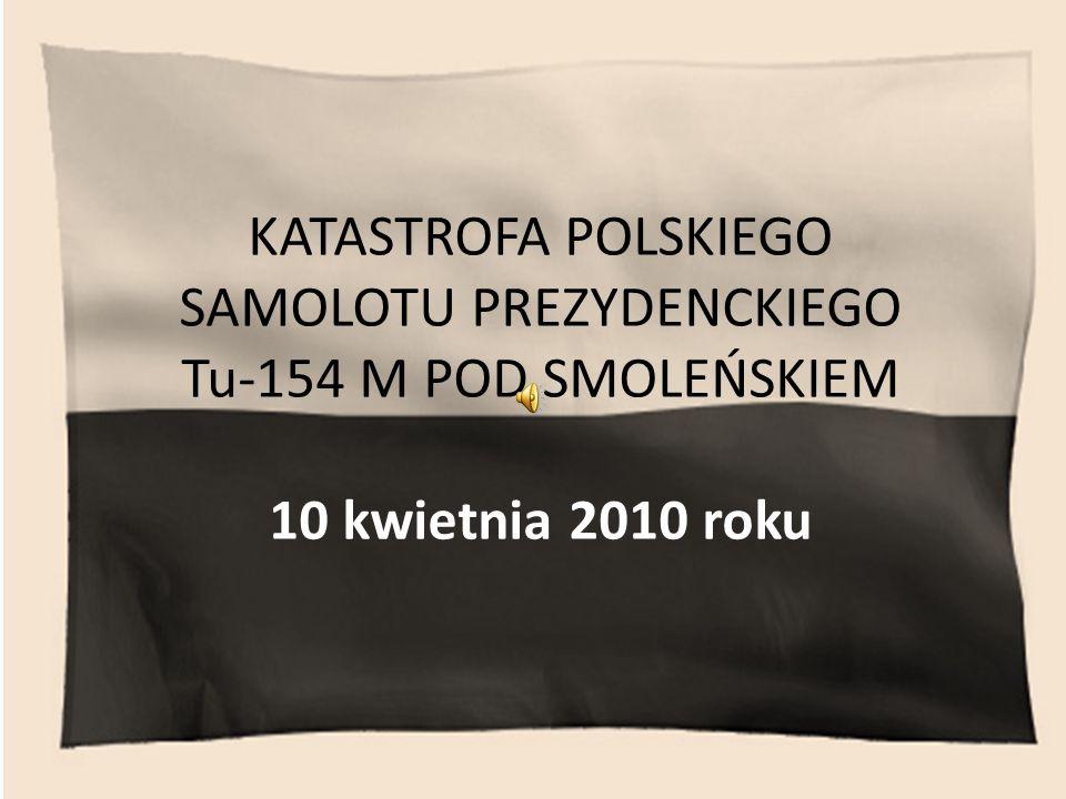 Samolotem leciała polska delegacja na obchody rocznicy zbrodni katyńskiej.