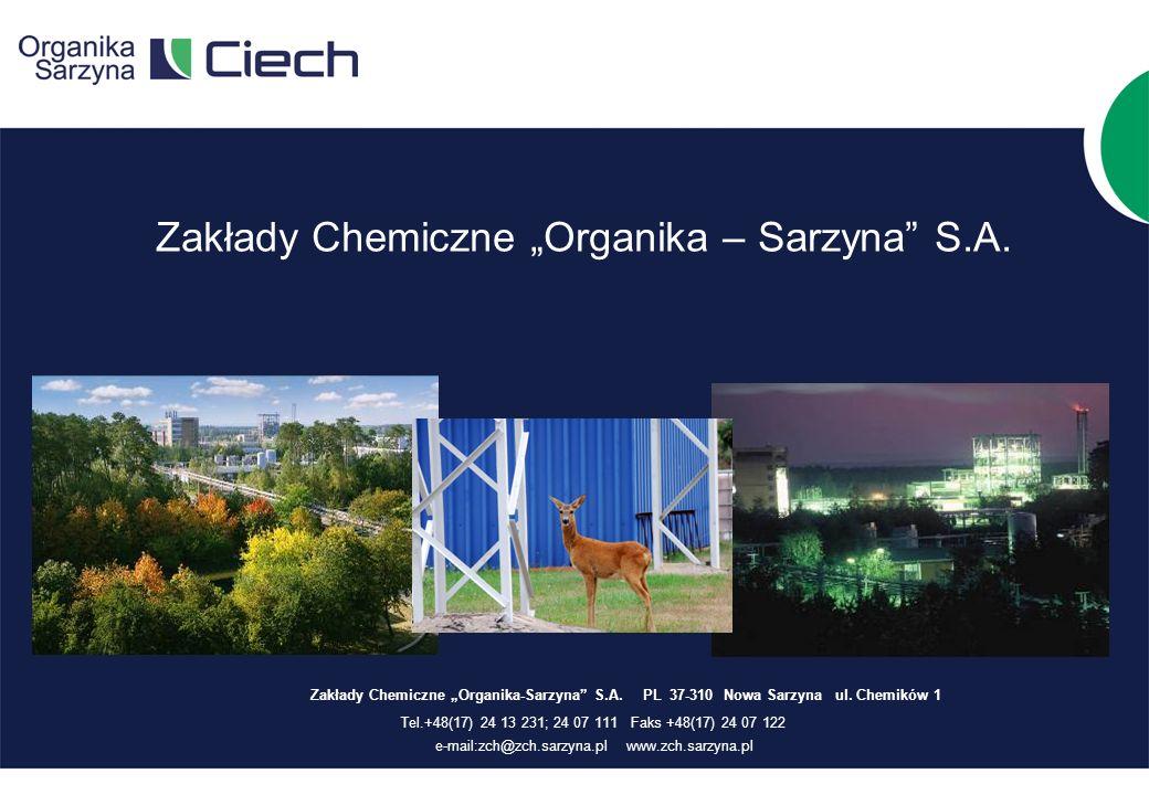 Zakłady Chemiczne Organika – Sarzyna S.A.Zakłady Chemiczne Organika-Sarzyna S.A.