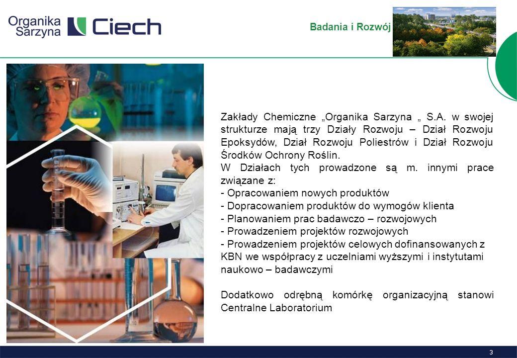 4 Laboratorium Centralne Centralne Laboratorium Zakładów Chemicznych Organika-Sarzyna S.A.