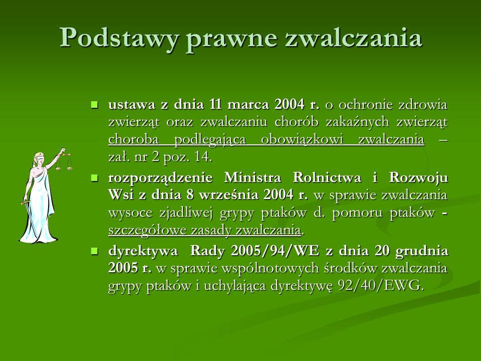 Podstawy prawne zwalczania ustawa z dnia 11 marca 2004 r.