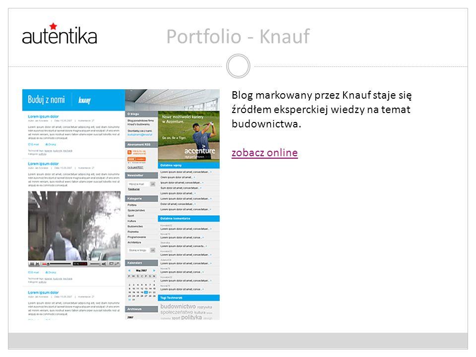 Portfolio - Knauf Blog markowany przez Knauf staje się źródłem eksperckiej wiedzy na temat budownictwa. zobacz online