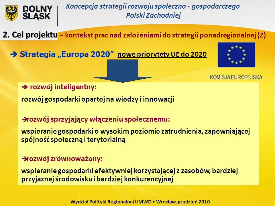nowe priorytety UE do 2020 Strategia Europa 2020 Strategia Europa 2020 rozwój inteligentny: rozwój gospodarki opartej na wiedzy i innowacji rozwój spr