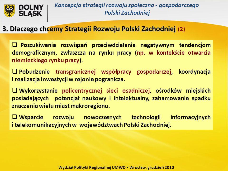 3. Dlaczego chcemy Strategii Rozwoju Polski Zachodniej 3. Dlaczego chcemy Strategii Rozwoju Polski Zachodniej (2) Poszukiwania rozwiązań przeciwdziała