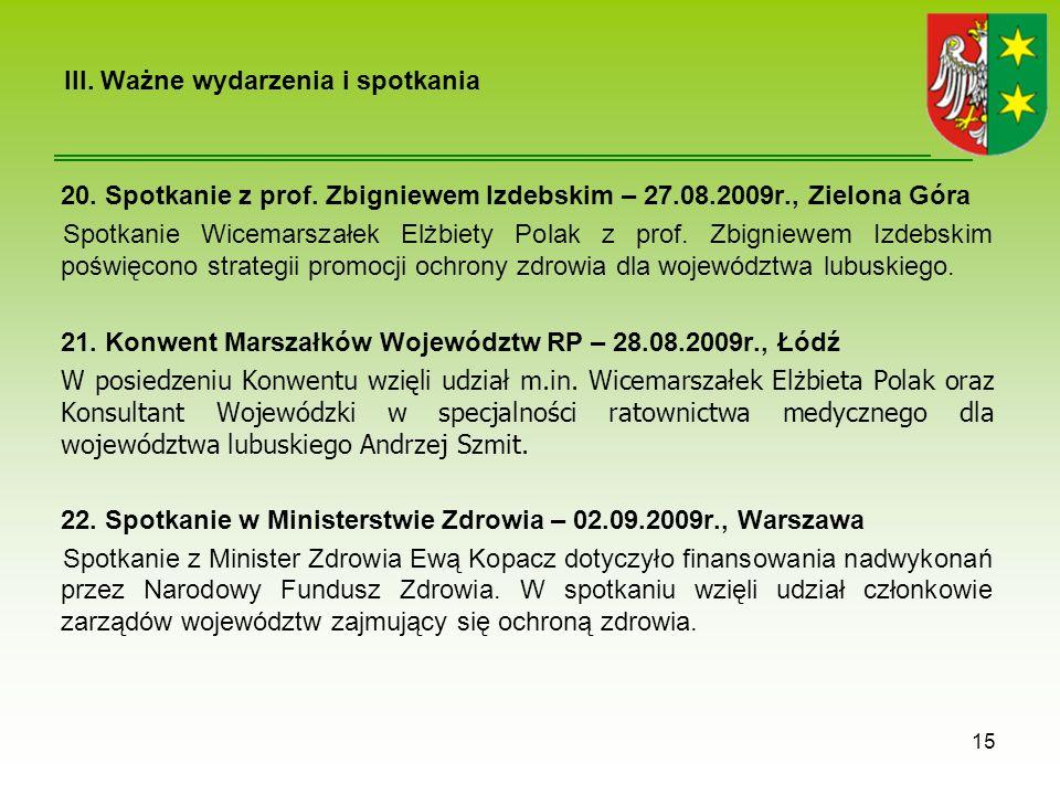 III.Ważne wydarzenia i spotkania 20. Spotkanie z prof.