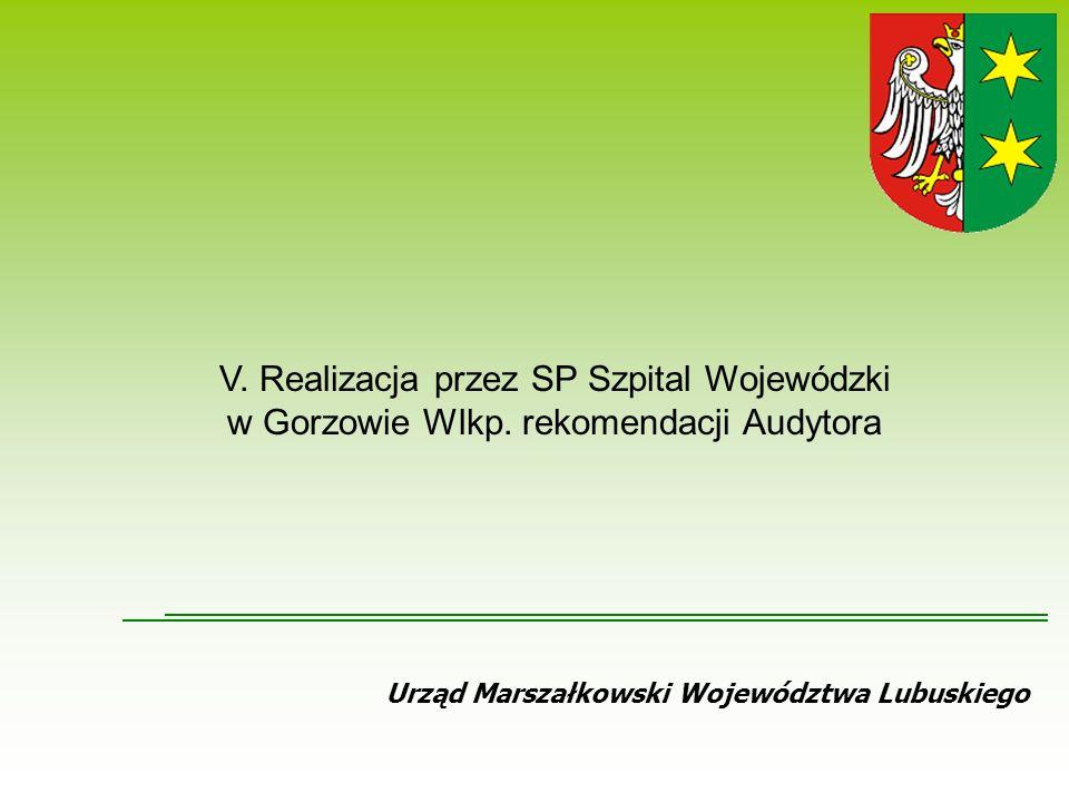 Urząd Marszałkowski Województwa Lubuskiego V.