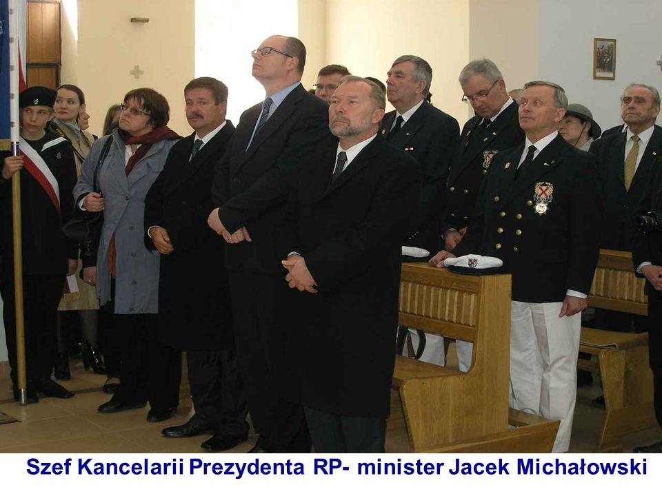 Szef Kancelarii Prezydenta RP- minister Jacek Michałowski