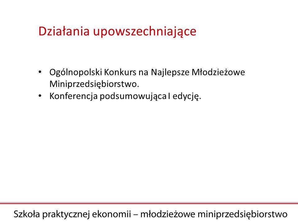 Ogólnopolski Konkurs na Najlepsze Młodzieżowe Miniprzedsiębiorstwo.