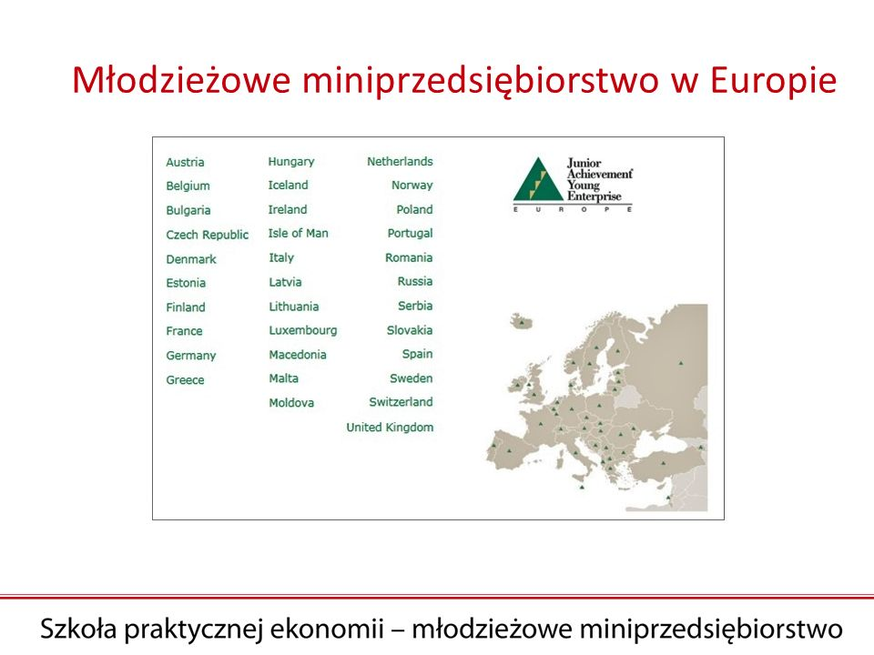 Młodzieżowe miniprzedsiębiorstwo w Europie