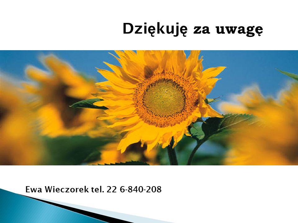 Dzi ę kuj ę za uwagę Ewa Wieczorek tel. 22 6-840-208