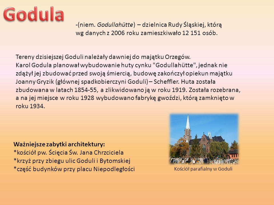 -(niem. Godullahütte) – dzielnica Rudy Śląskiej, którą wg danych z 2006 roku zamieszkiwało 12 151 osób. Tereny dzisiejszej Goduli należały dawniej do