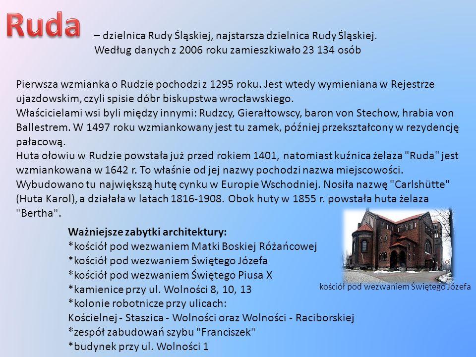 – dzielnica Rudy Śląskiej, najstarsza dzielnica Rudy Śląskiej. Według danych z 2006 roku zamieszkiwało 23 134 osób Pierwsza wzmianka o Rudzie pochodzi