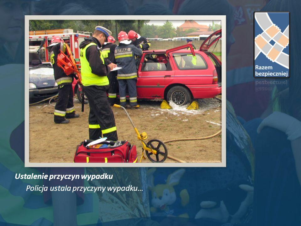 Ustalenie przyczyn wypadku Policja ustala przyczyny wypadku…