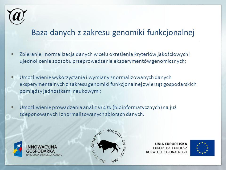 Baza danych z zakresu genomiki funkcjonalnej Zbieranie i normalizacja danych w celu określenia kryteriów jakościowych i ujednolicenia sposobu przeprow