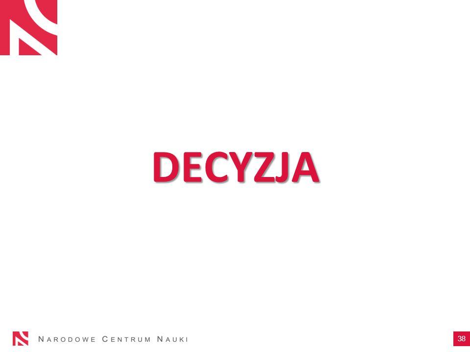 DECYZJA 38