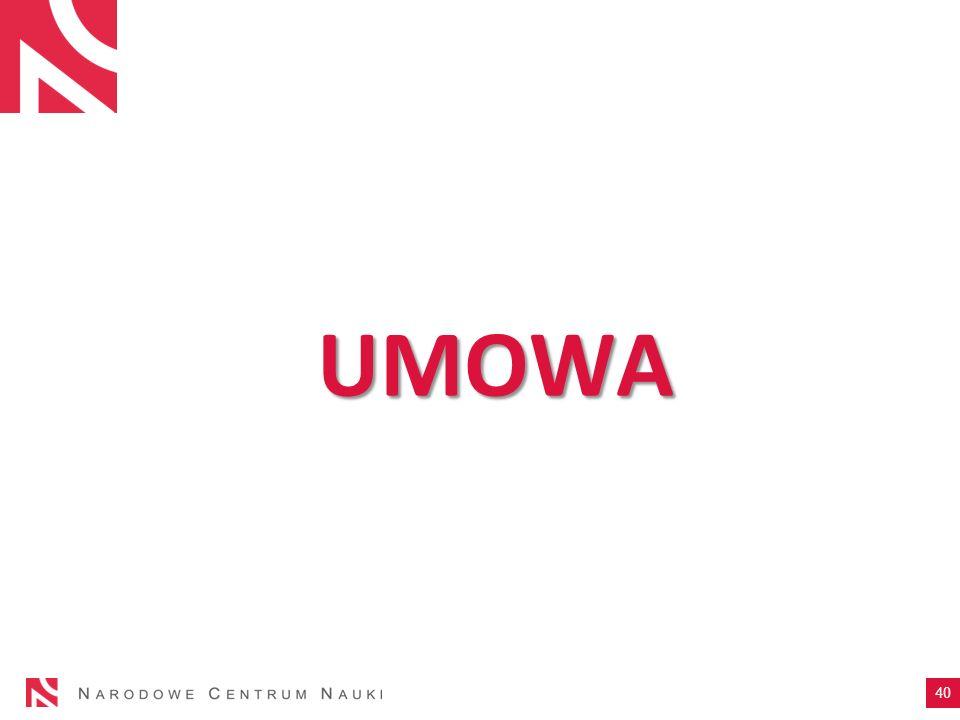 UMOWA 40