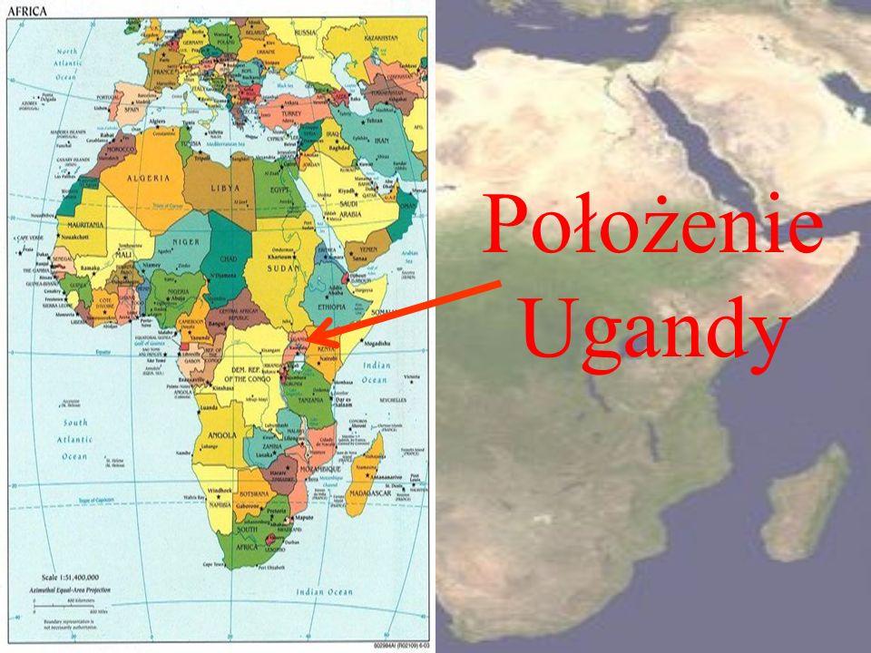Położenie Ugandy