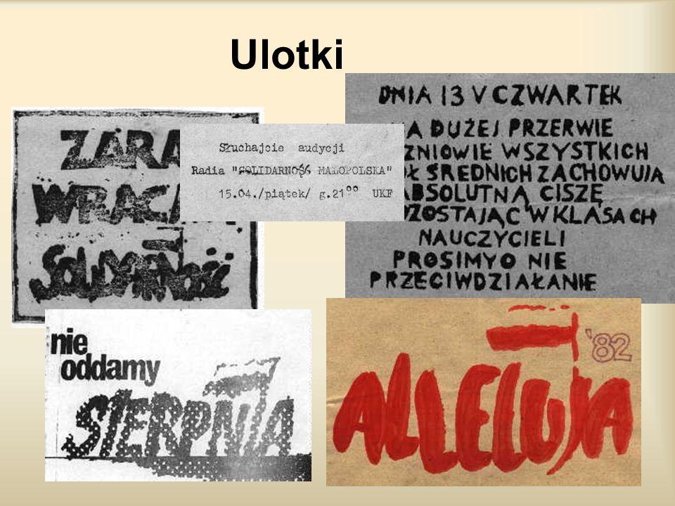 Tajne struktury NSZZ Mimo terroru, od pierwszych dni stanu wojennego działacze związkowi, którzy uniknęli aresztowania, organizowali tajne struktury N