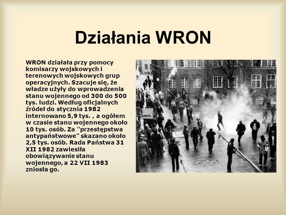 Konsekwencje Konsekwencjami nocy z 12 na 13 grudnia był wybuch oporu społecznego wobec władzy. Rozpoczęły się akcje strajkowe na terenach kopalń (