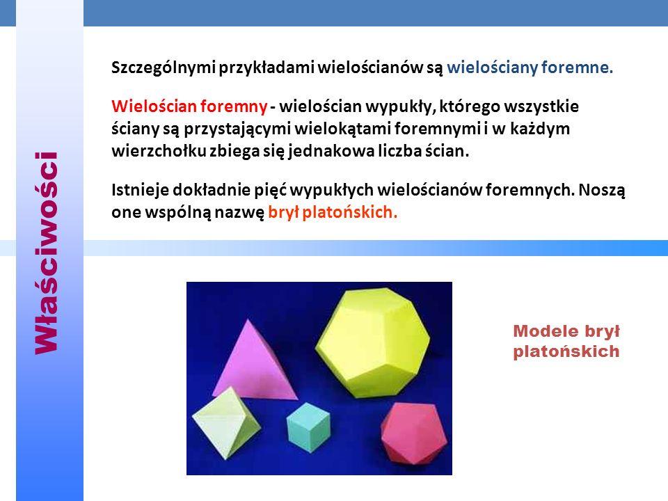 Szczególnymi przykładami wielościanów są wielościany foremne.