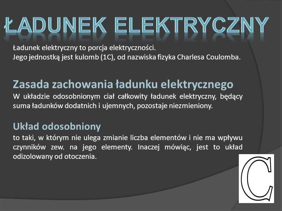 Ładunek elektryczny to porcja elektryczności.