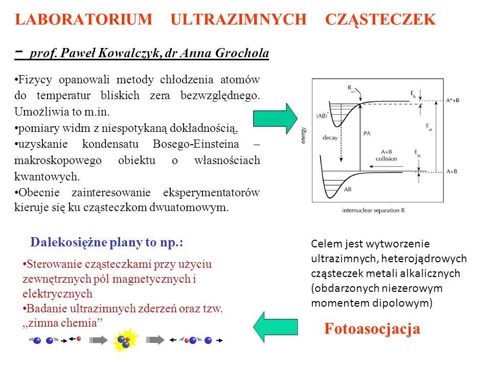 LABORATORIUM ULTRAZIMNYCH CZĄSTECZEK - prof.
