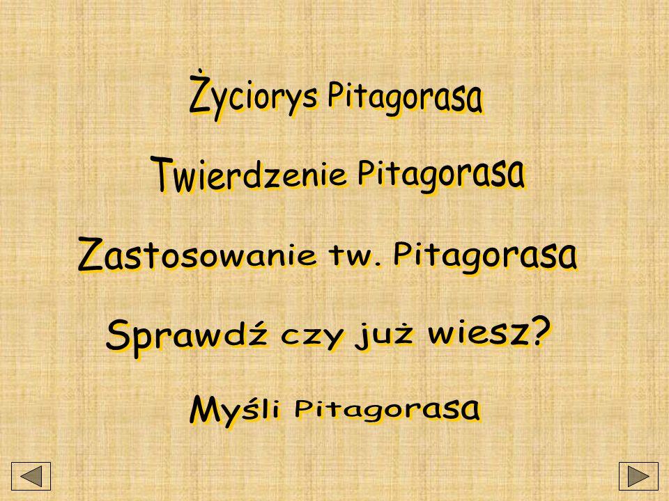 PITAGORAS Pomoc dydaktyczna wykonana przez Daniela Decewicza z klasy II j w roku szkolnym 2001/2002 pod kierunkiem Jolanty Sarnackiej i Ewy Decyk.