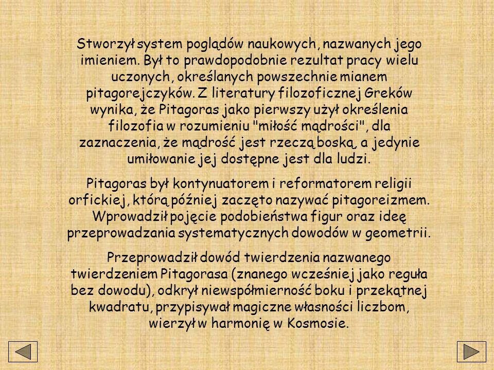 Pitagoras (ok.572-497 p.n.e), filozof grecki.