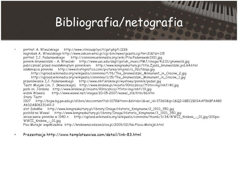 Bibliografia/netografia portret A.