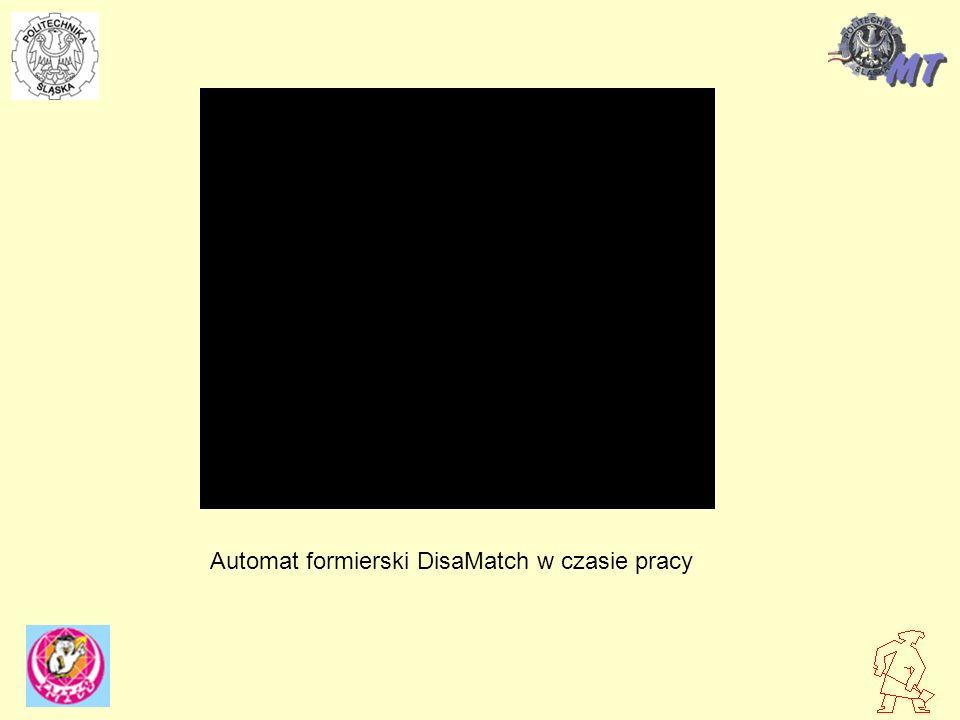 Automat formierski DisaMatch w czasie pracy