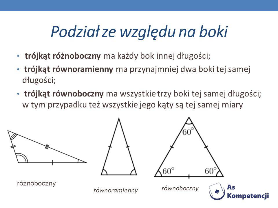 ZADANIA Zad.5 Odcinając narożnik danego trójkąta równobocznego, otrzymano trapez.